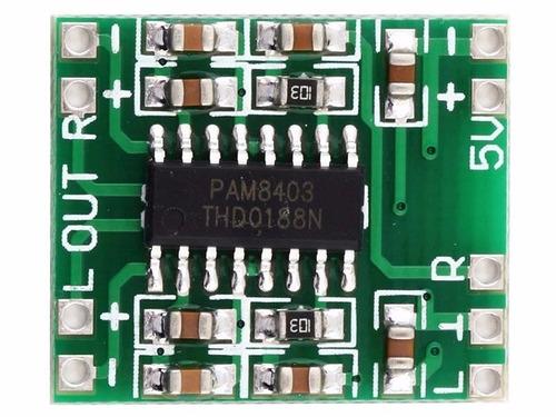 Módulo Amplificador Som Estéreo Pam8403 - Kit Com 10 Peças