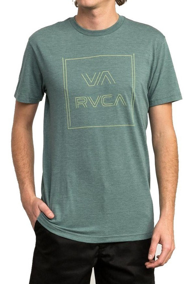 Remera M/c Rvca Pinner All The Way S Pine Tree Hombre