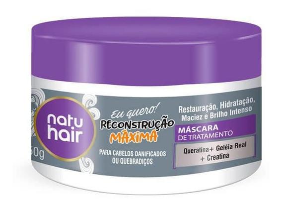 Máscara De Tratamento Natuhair Reconstrução Máxima 350g