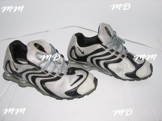 Tenis Nike Shox Cor Cinza E Preto Running Tamanho Br 42 ! !