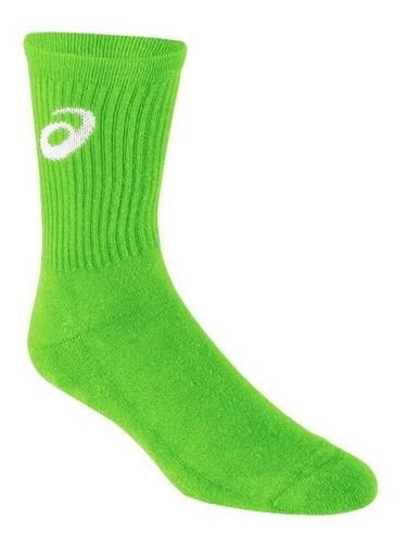Medias Asics Voley Handball Tenis Verde Neon Talles S / M