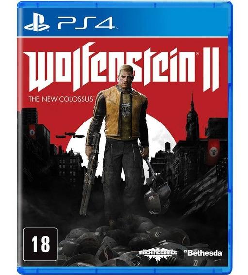Wolfenstein 2: The New Colossus Mídia Física Original Ps4 Novo Lacrado