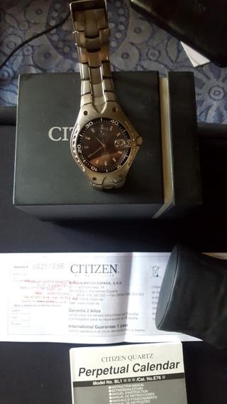 Citizen. Ecodrive Titanium .cristal De Zafiro.