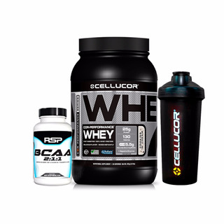 Whey Protein Performance 900g Cellucor + Bcaa Rsp 60cp + Coq