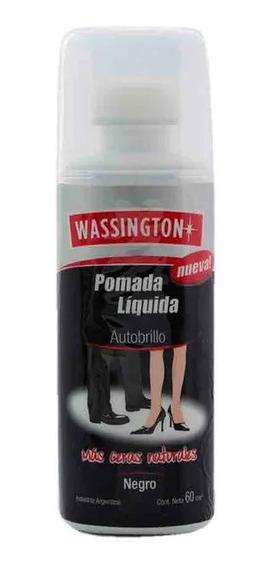 Wassington Pomada Liquida Autobrillo Negro X 60cm3