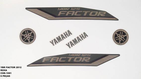 Kit De Adesivos Ybr 125 Factor 12 - Moto Cor Roxa - 1081