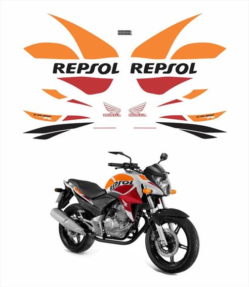 Adesivo Emblema Faixa Compatível Cb300r Repsol 2015 Cb 300r