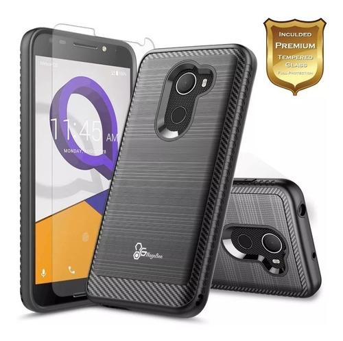 Forro Para Alcatel A30 Plus Verus +vidrio Templado Case