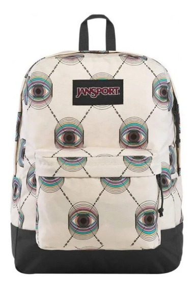 Mochila Jansport Unisex Beige Pyschic Eye