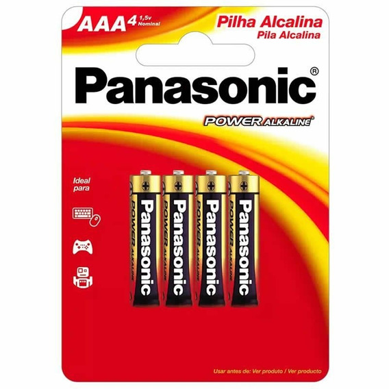 Pilha Panasonic Alcalina Aaa 4 Un 10415