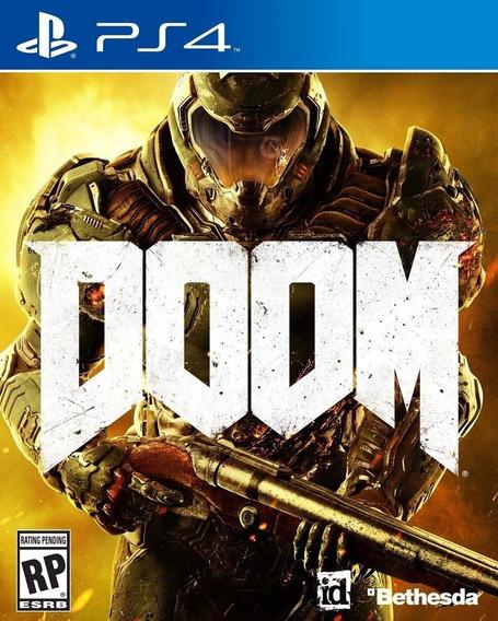Doom Ps4 Mídia Física ( Semi-novo )