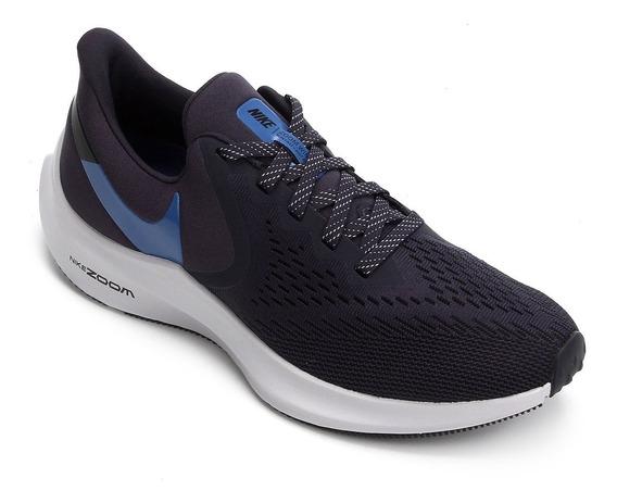 Tênis Nike Zoom Winflo 6 Azul Original+nf - Aq7497