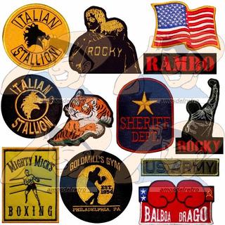 Parche Bordado Rocky Balboa Y Rambo 14 Modelos X Unidad Adr