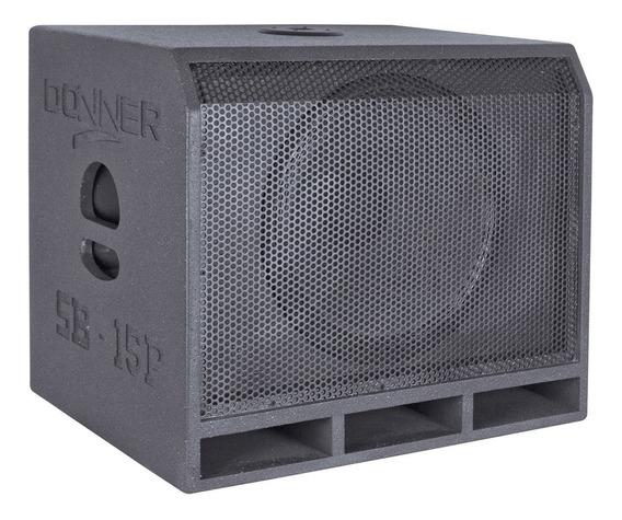 Caixa De Som Subwoofer Passivo 400w Preta Sb15p Ll Áudio
