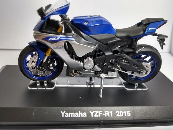 Miniatura Moto Yamaha Rzf R1 2015 Azul