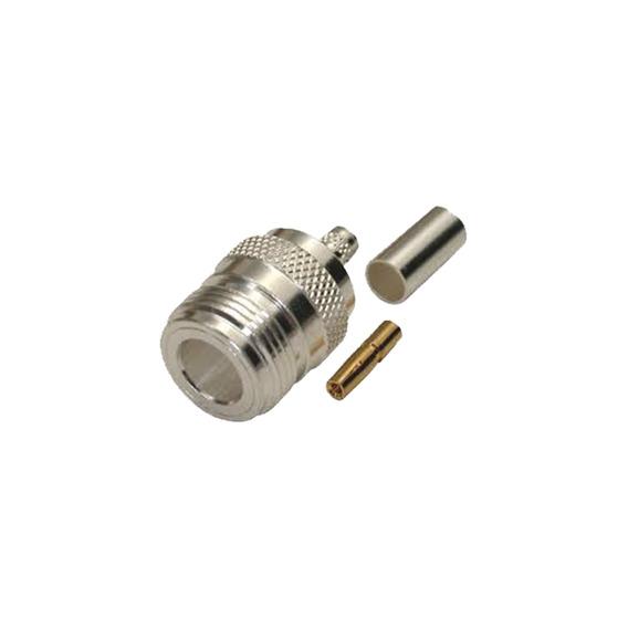 Conector N Hembra, De Anillo Plegable Para Cables Lmr-240,