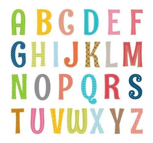 Decowall Da-1701a Alfabeto En Mayúsculas Abc Letter Calcoma