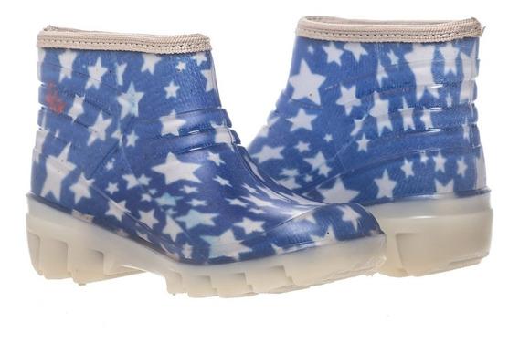 Bota Kids Estrellas Azul