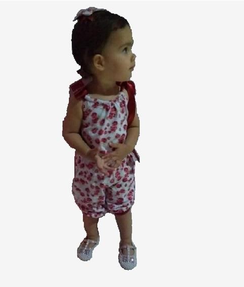 Macacão Capri Infantil Malha 2 Anos