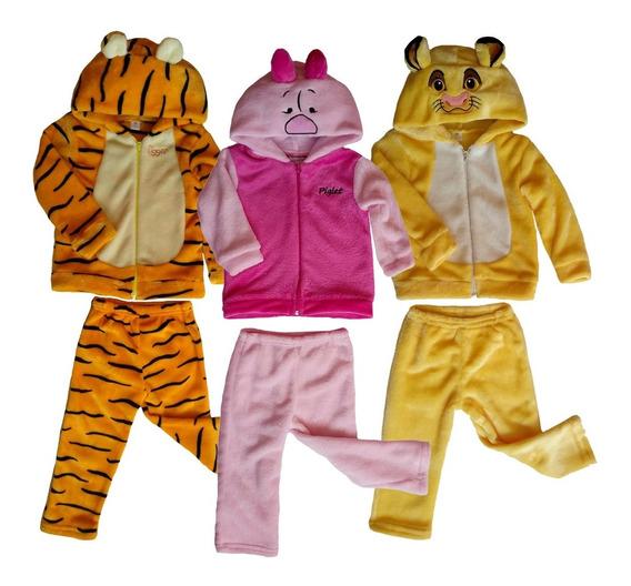 Kit 3 Conjuntos Disney Piglet, Tigger, Simba Con Gorro