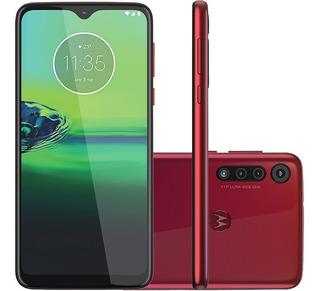 Celular Motorola Moto G8 Play Vermelho Magenta 32gb Cam Trip