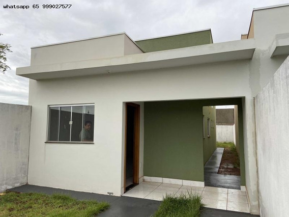 Casa Para Venda Em Várzea Grande, Paiaguas, 2 Dormitórios, 1 Suíte, 2 Banheiros, 2 Vagas - 387_1-1355109