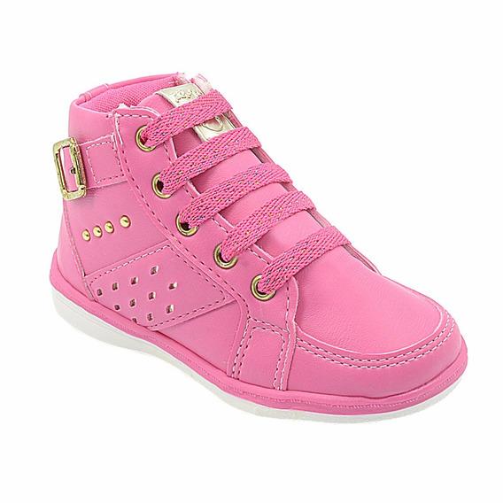 Tênis Infantil Feminino Menina Pink Pé Com Pé