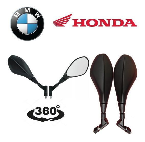 Retrovisor Bmw Gs 650 F800 Rotativo 360 Honda Cg Fan Titan
