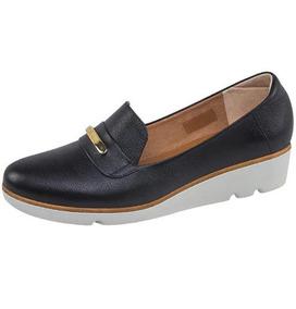 Zapatos Confort Vicenza Piel Dama Negro Udt 8998g