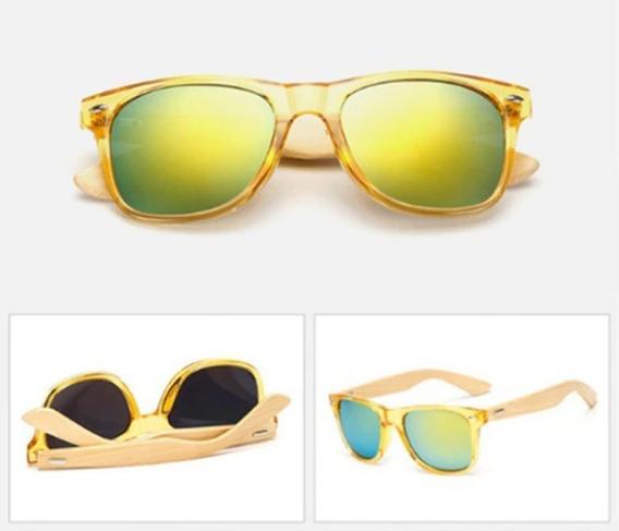Óculos De Sol Bamboo - Hastes Em Bambu - Cores Diversas