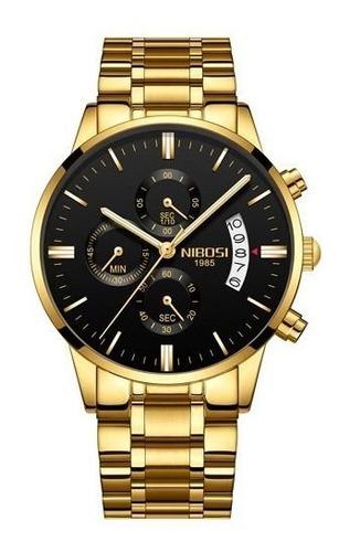 Relógio Nibosi Blindado, Luxo/casual, Cronógrafo, Promoção