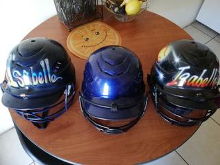 Lote De Cascos Para Béisbol Son Tres, (3) Marca Rawlings