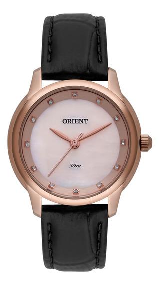 Relógio Orient Feminino Rose Couro Frsc0016 R1px