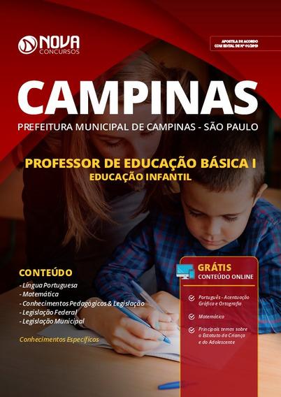 Apostila Prefeitura Campinas Sp 2019 Peb I Educação Infantil