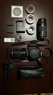 Cámara Canon Rebel T6 + Kit + Gran Angular + Teleobjetivo