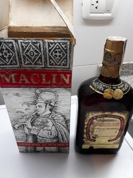 Antigua Botella Coleccion Whisky Maclin 1 Litro