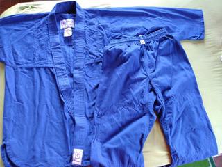 Kimono Azul Torah Combate M2 Infa Jiu-jitsu Judô Novo Zerado