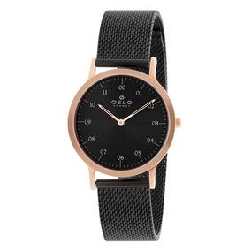 Relógio Oslo Oftsss9t0003 P2px Slim Preto Original