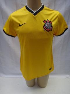 Camisa De Futebol Corinthians 2014 Nike Amarela Terceiro Unf