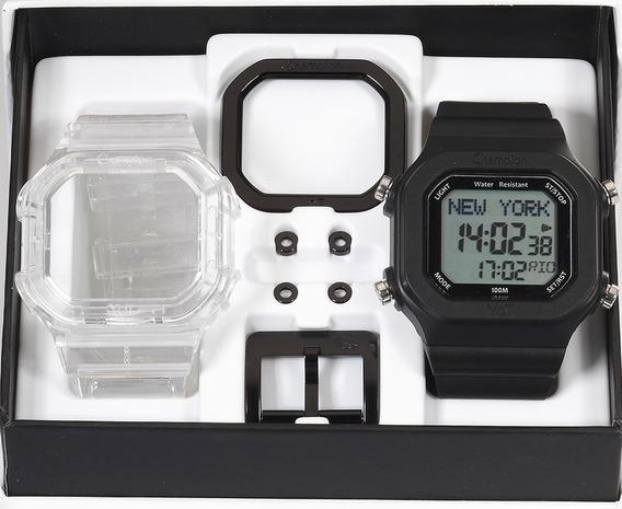 Relógio Champion Yot Original Cp40180x Nf Transparent Preto