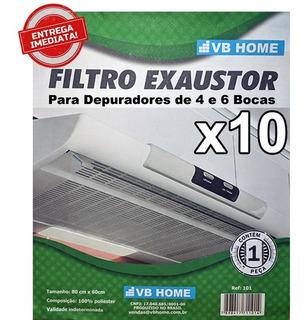 Manta Filtro P/ Depurador De Ar 4,6 Bocas - 10 Pct C/ 1 Un