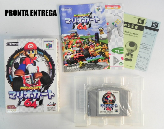 Jogo Mario Kart 64 - Nintendo 64 - Completo - Japonês