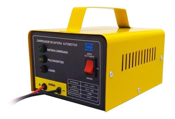 Carregador De Bateria Carro Bivolt 12v 10a 120w Lup Led