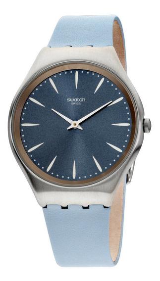 Relógio Unissex Swatch Syxs118 Pulseira De Couro