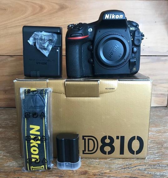 Nikon D810, Semi Nova Na Caixa + Brinde
