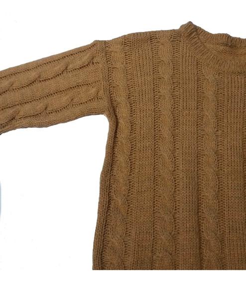 Sweater Lana Frizz Trenza Y Baston Mujer Suave Abrigo Moda