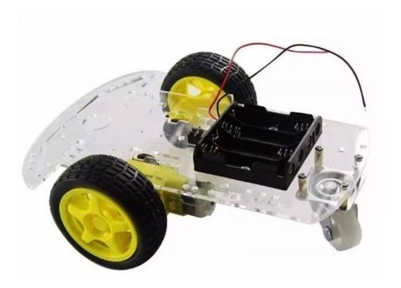 Kit Chassi 2 Rodas Robótica Robô Projeto Arduino - Nota Fisc