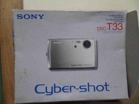 Caixa E Manuais Com Cd Da Câmera Digital Sony Dsc-t33