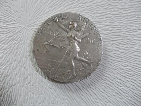 Medalla Centenario Independencia 1910 H. Lefebvre Diam.70mm