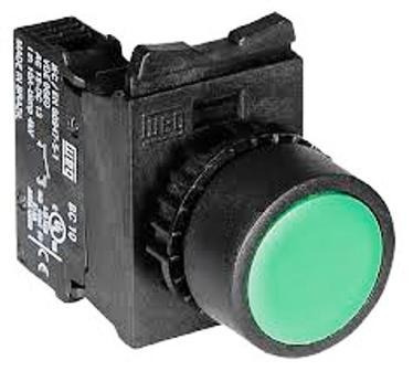Botão Pulsador Weg Csw-bf2-10000000 Verde 22mm Kit 5 Pçs